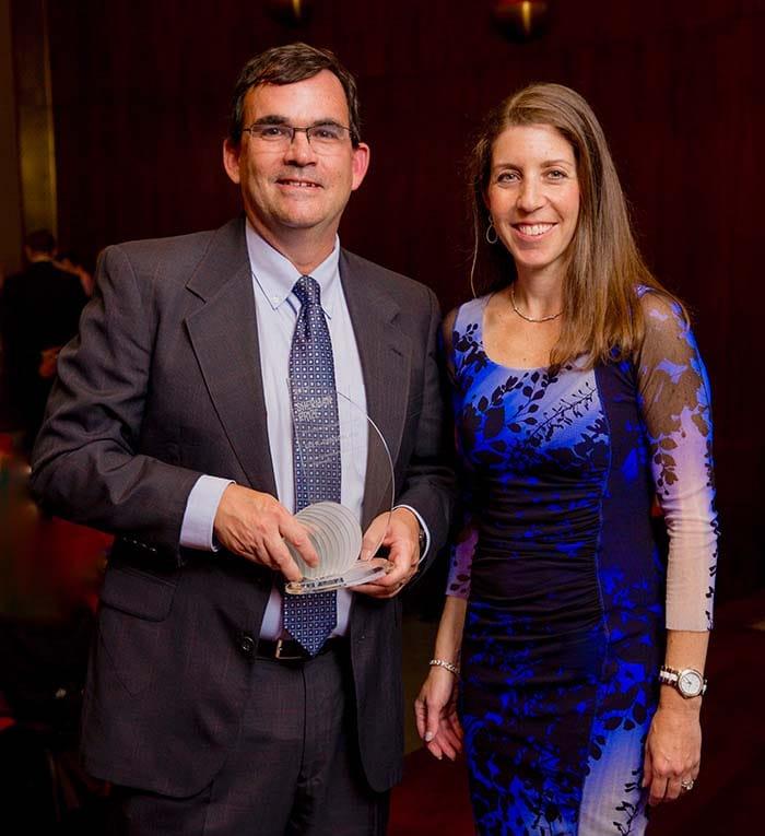 <p>Lori Shaer and Dr. Lee Denson</p>