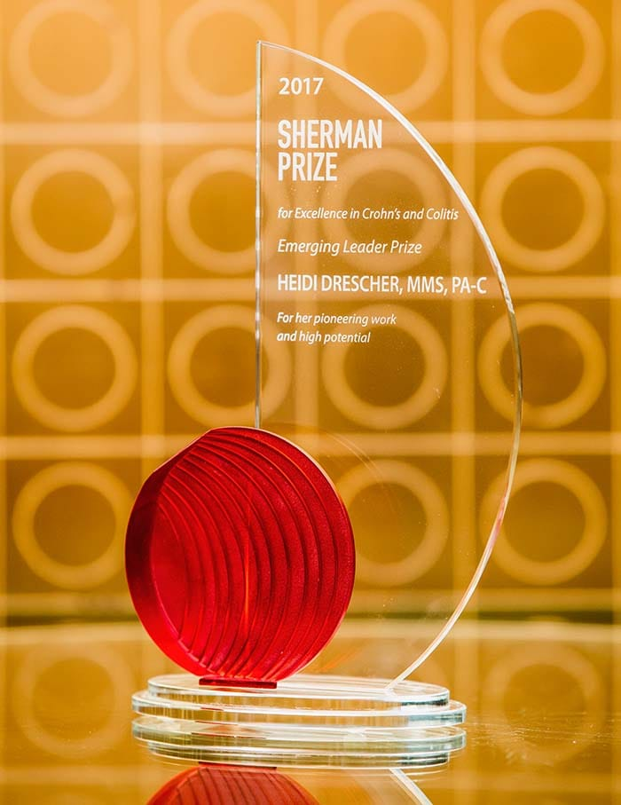 <p>2017 Sherman Emerging Leader Prize - Physician Assistant Heidi Drescher</p>
