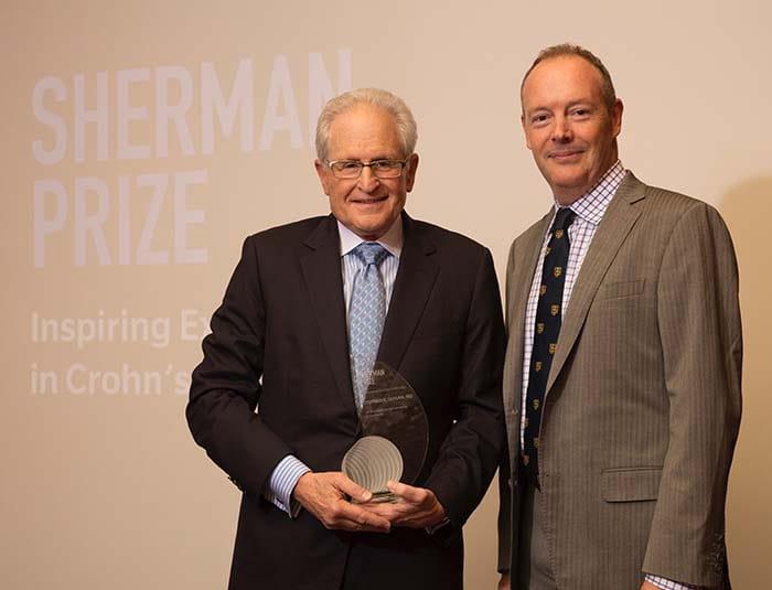 <p>Dr. Stephan Targan and Dr. Dermot McGovern</p>