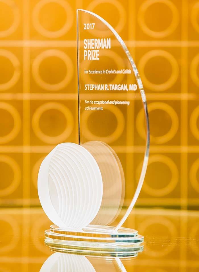 <p>2017 Sherman Prize Award - Dr. Stephan Targan</p>