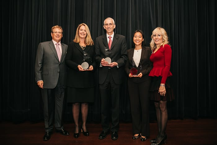 <p>Bruce and Cynthia Sherman and the 2016 Sherman Prize Recipients</p>