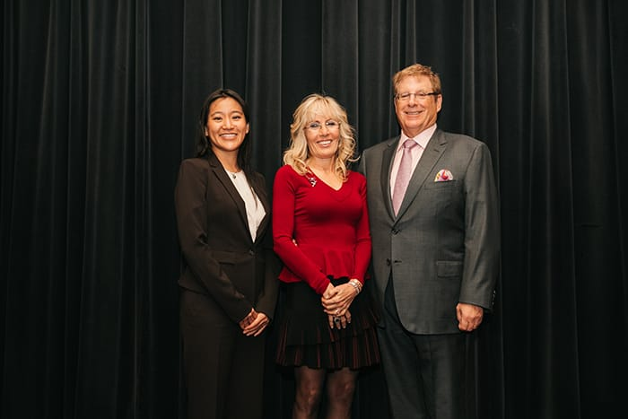 <p>Bruce and Cynthia Sherman with Dr. Lea Ann Chen</p>