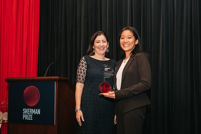 <p>Randi Stanley with Dr. Lea Ann Chen</p>