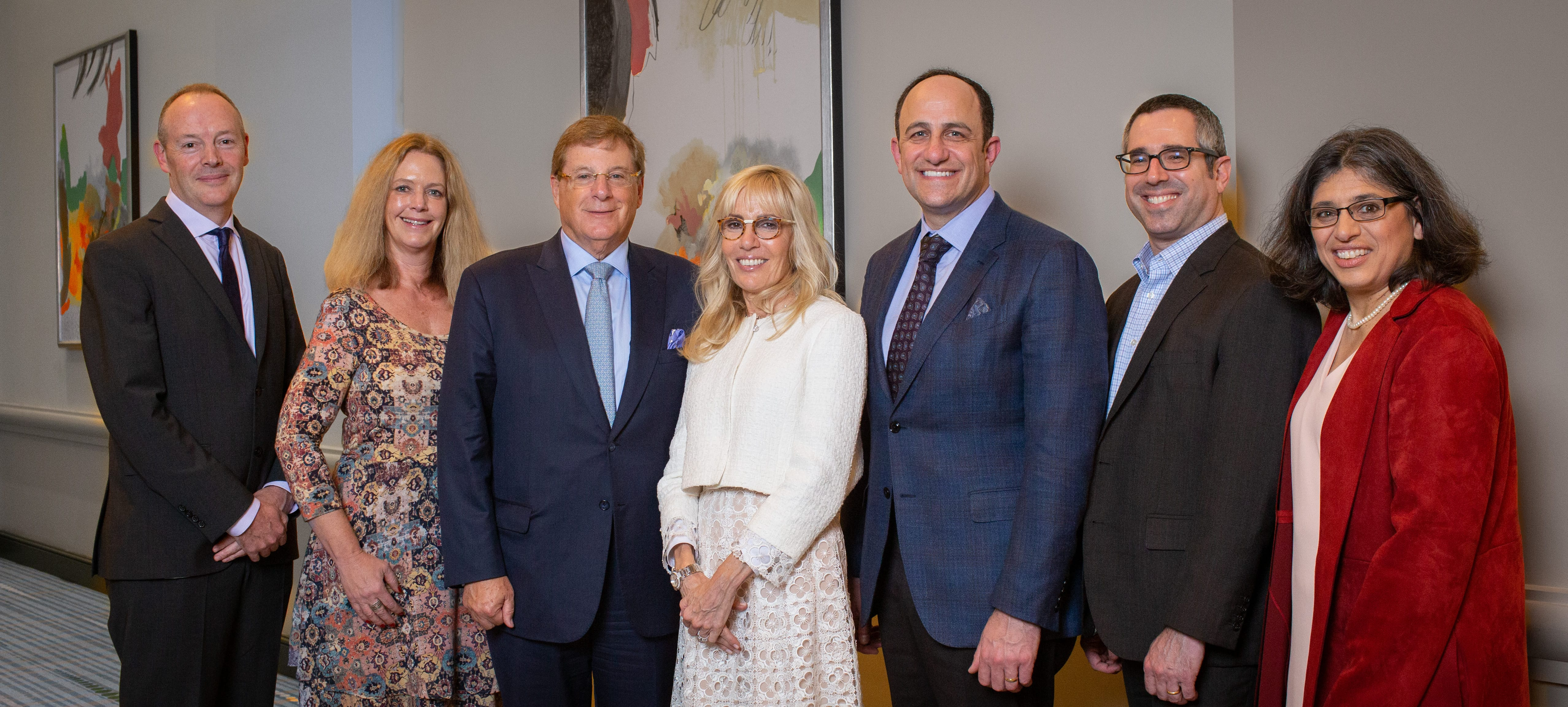 <p>Bruce and Cynthia Sherman with the 2018 Selection Committee</p>