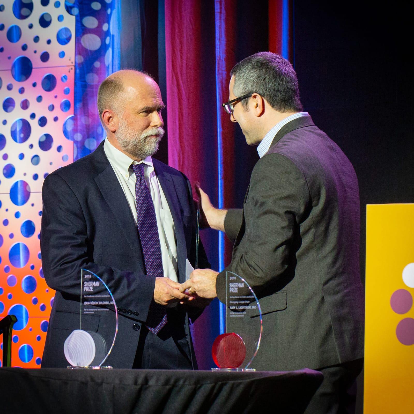 <p>Dr. David Binion and Dr. Corey Siegel</p>