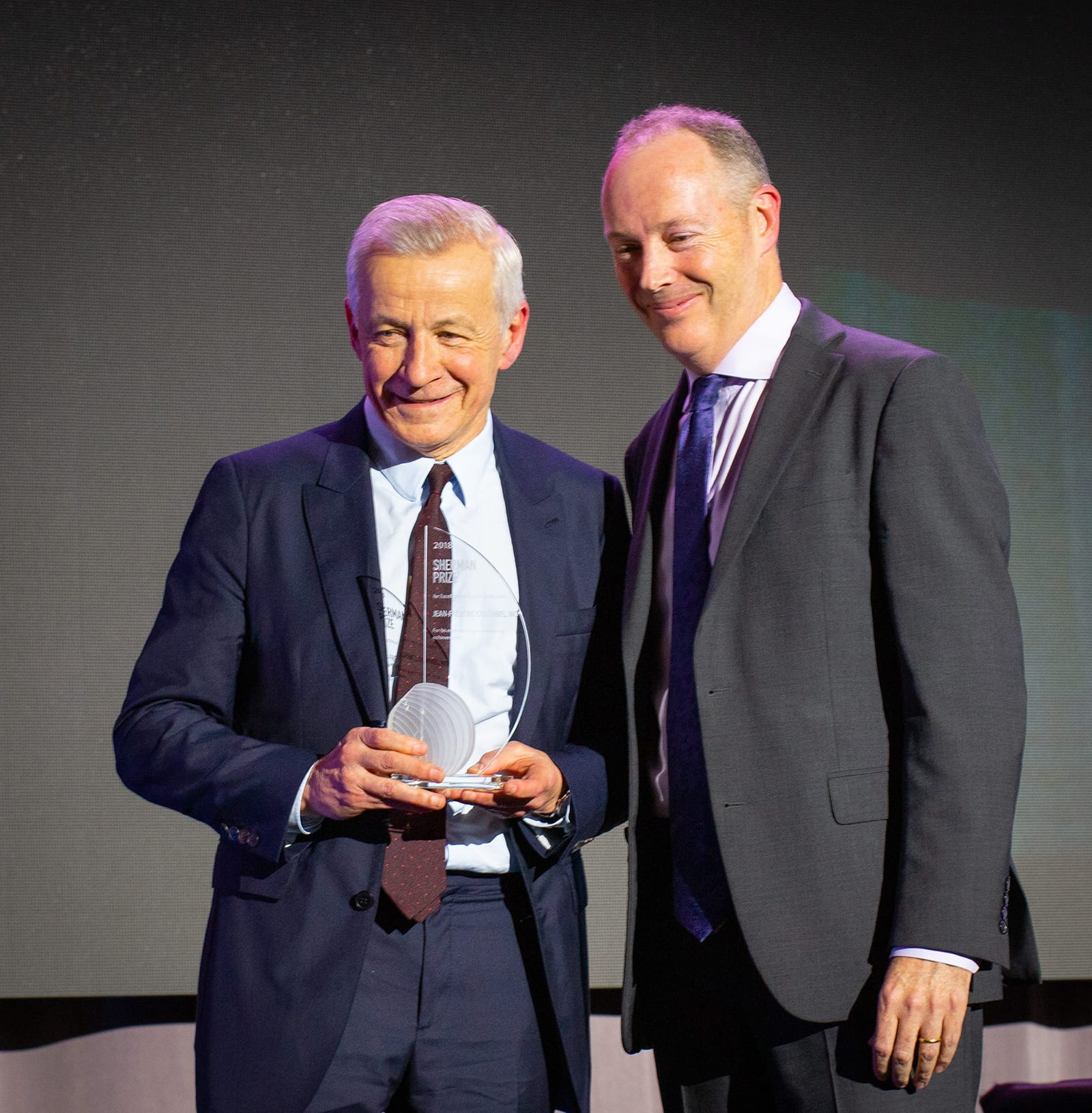 <p>Dr. Jean-Frederic Colombel and Dr. Dermot McGovern</p>