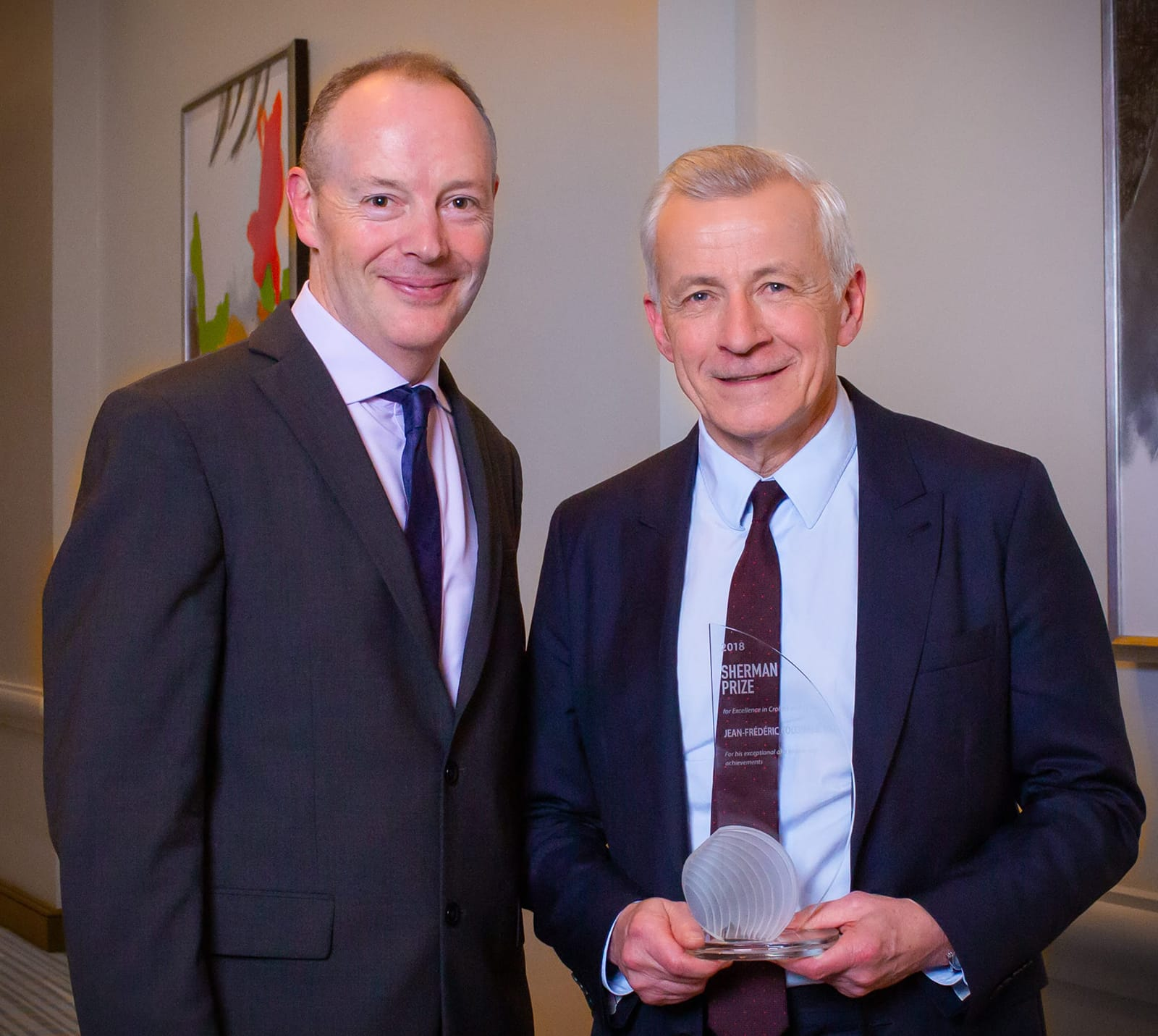 <p>Dr. Dermot McGovern and Dr. Jean-Frederic Colombel</p>