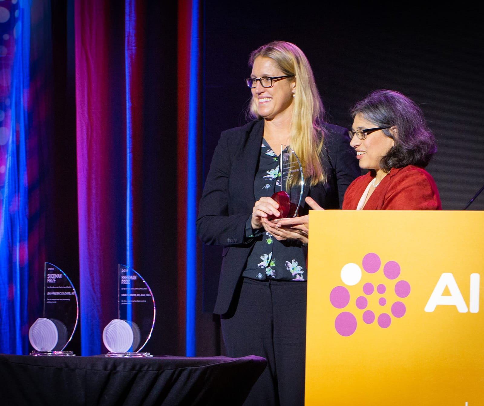 <p>Dr. Amy Lightner and Dr. Sunanda Kane</p>