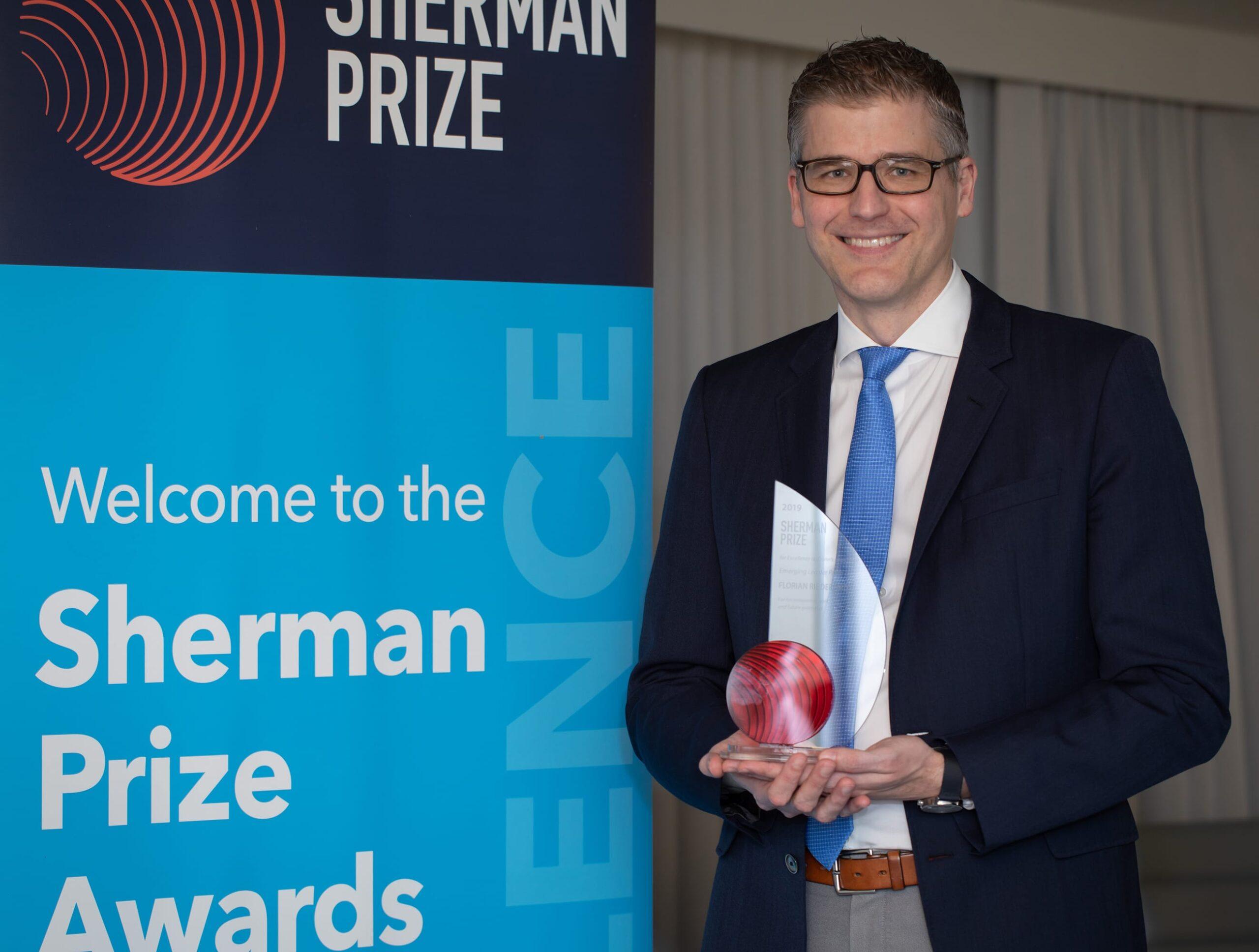 <p>2019 Sherman Emerging Leader Prize Recipient: Dr. Florian Rieder</p>