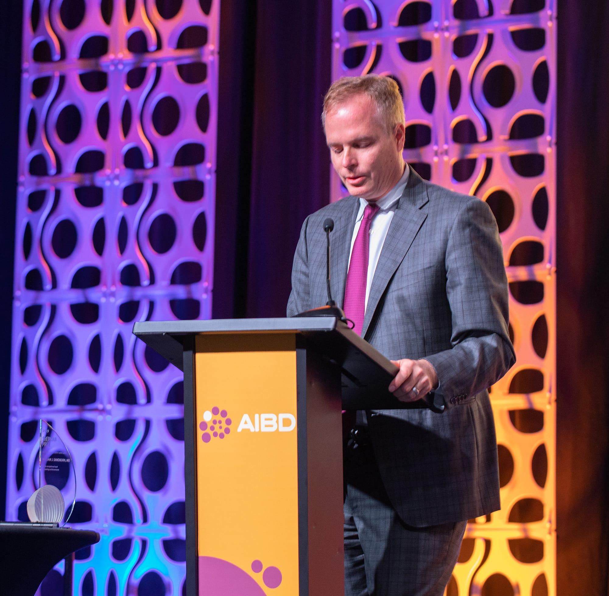 <p>2019 Sherman Prize Recipient: Dr. William Sandborn</p>