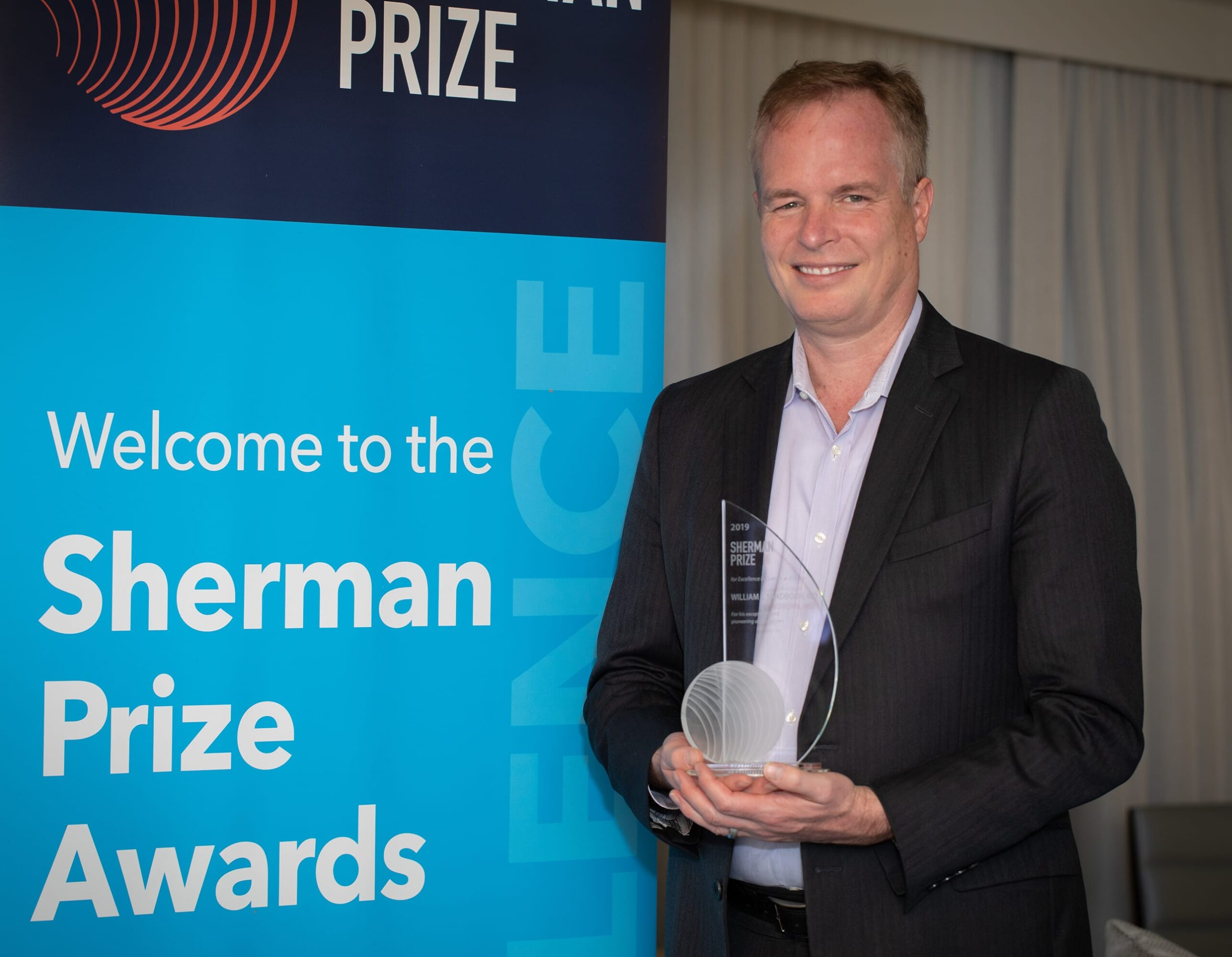 <p>2019 Sherman Prize Recipient: Dr. William Sandborn</p>