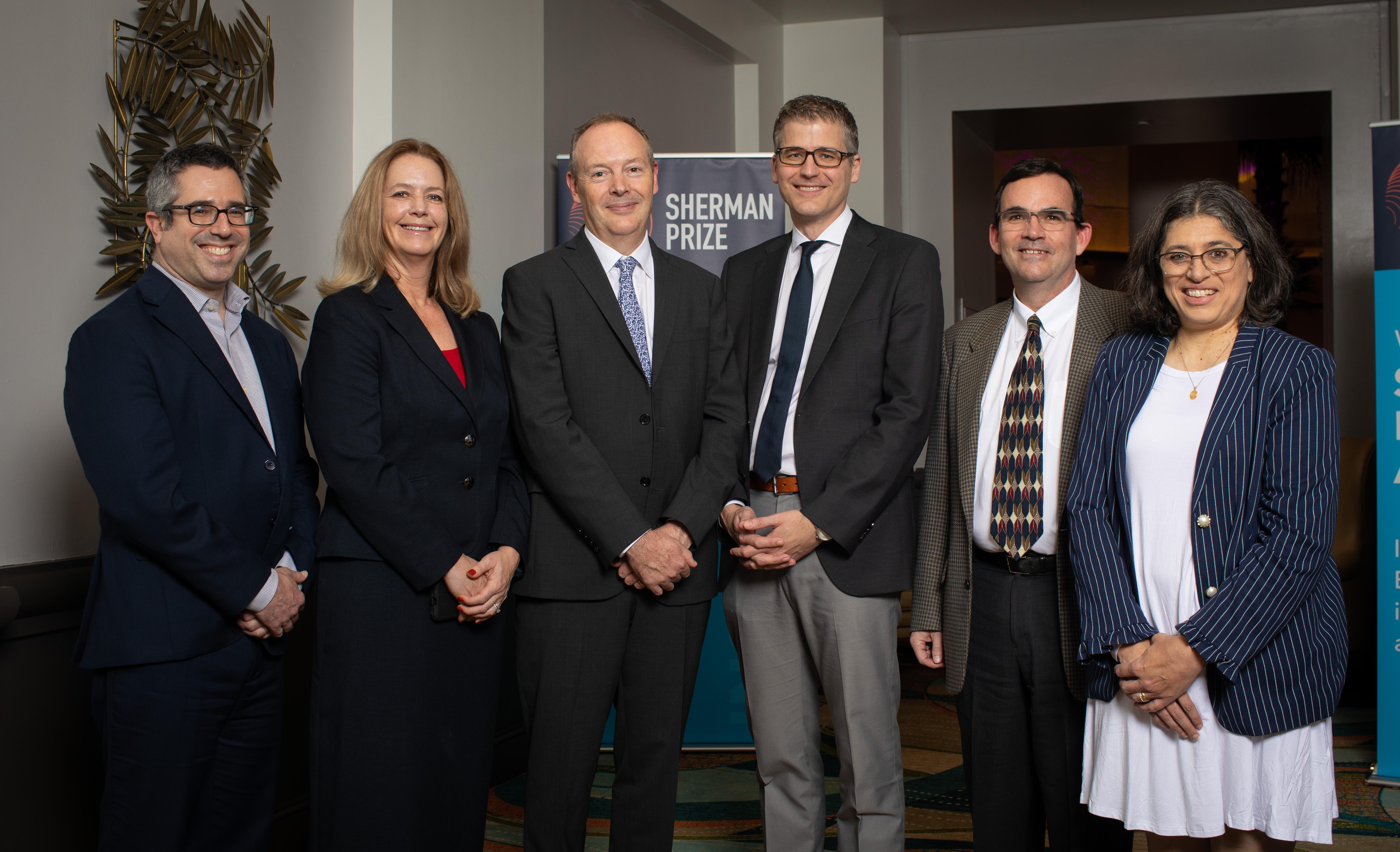 <p>2019 Selection Committee with 2019 Sherman Emerging Leader Prize Recipient Dr. Florian Rieder</p>