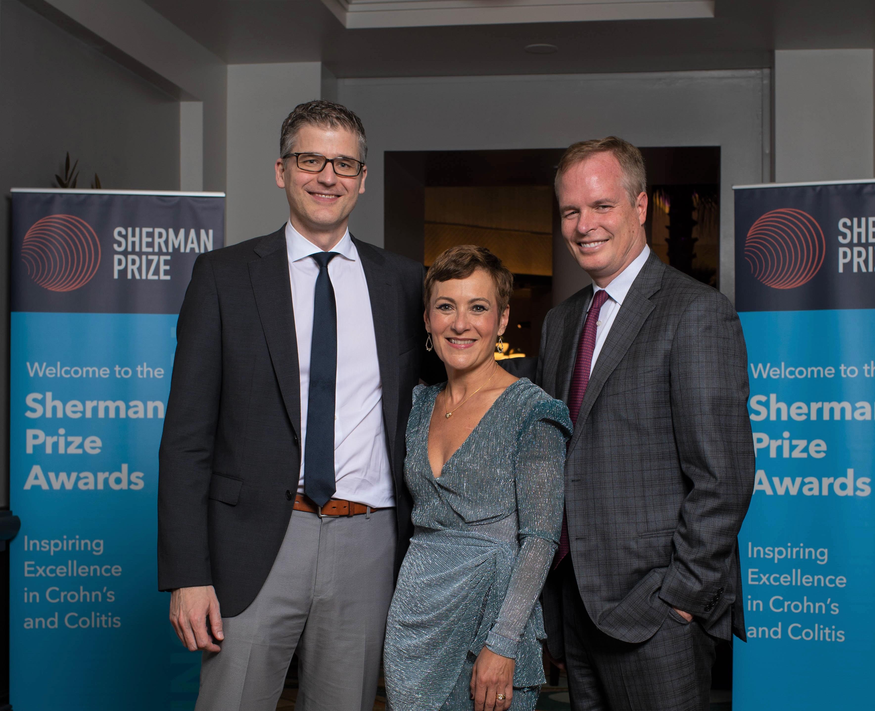 <p>2019 Sherman Prize Recipients: Dr. Florian Rieder, Dr. Maria Abreu, and Dr. William Sandborn</p>