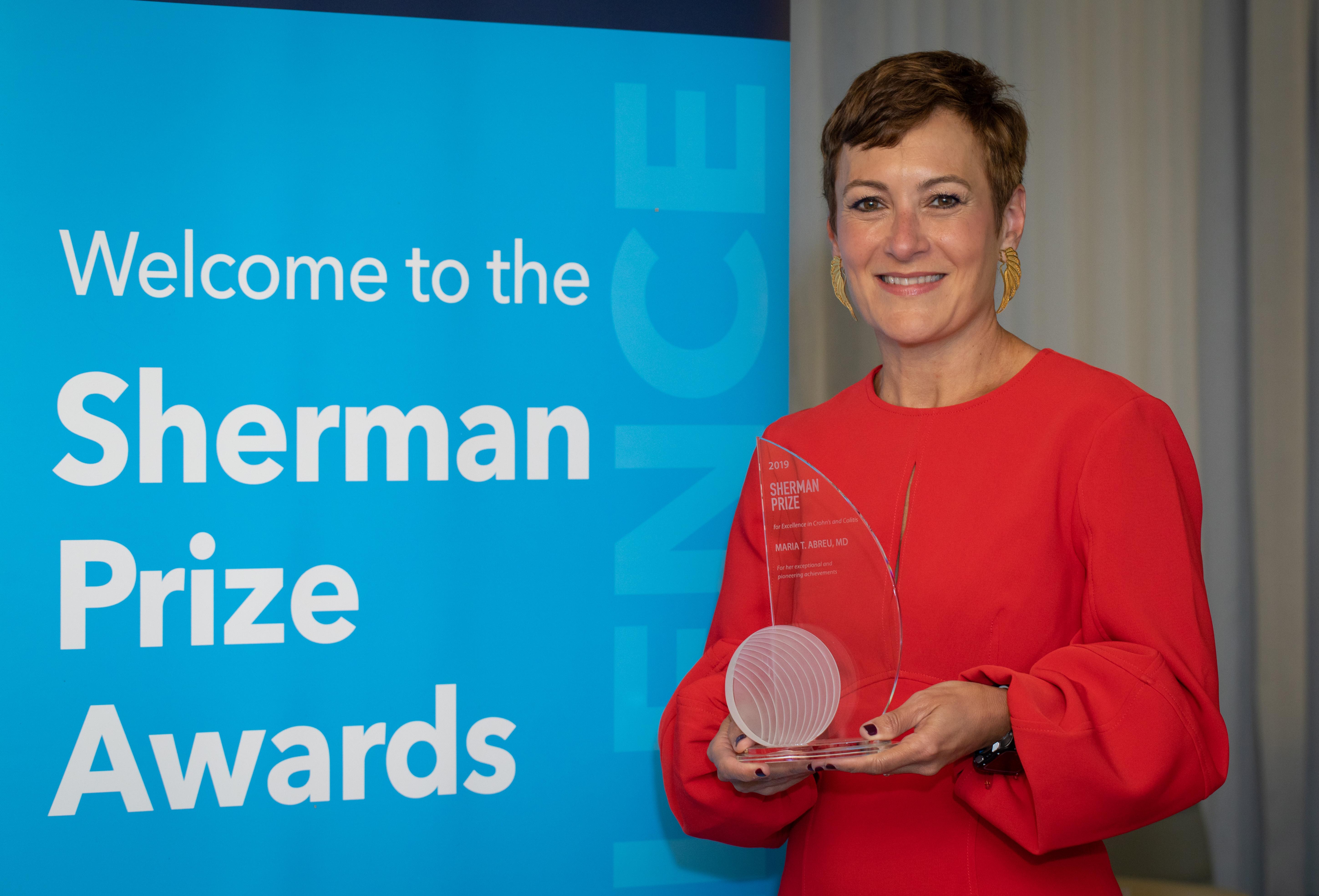 <p>2019 Sherman Prize Recipient: Dr. Maria Abreu</p>